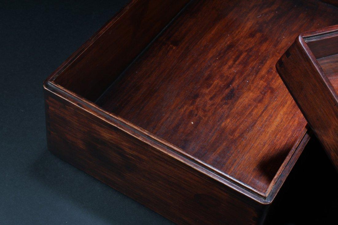 Chinese Hardwood (possibly HuangHuaLi) Rectangular Box, - 4