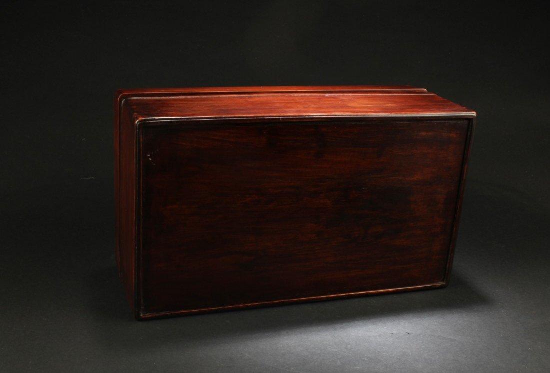 Chinese Hardwood (possibly HuangHuaLi) Rectangular Box, - 6