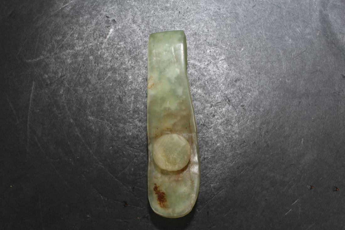 A Group of Three Chinese Jade Belt Buckles - 8