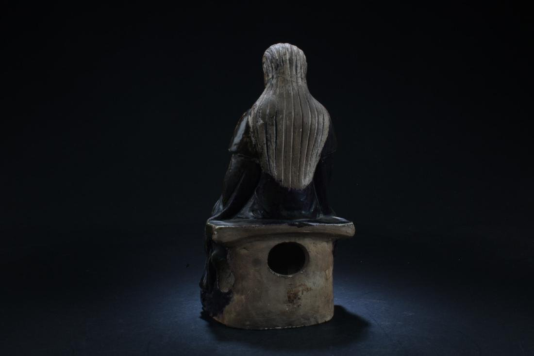 One Porcelain Horse Figurine & One Porcelain immortal - 5