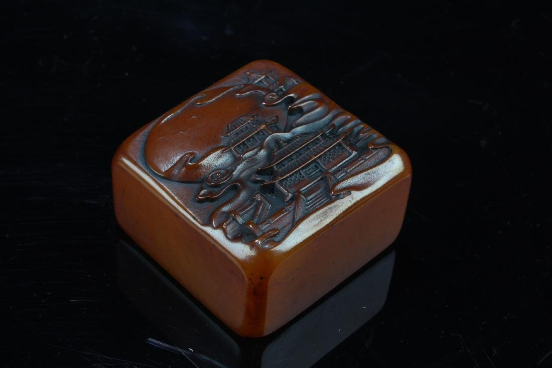 Chinese Soapstone Square-shaped Seal - 2