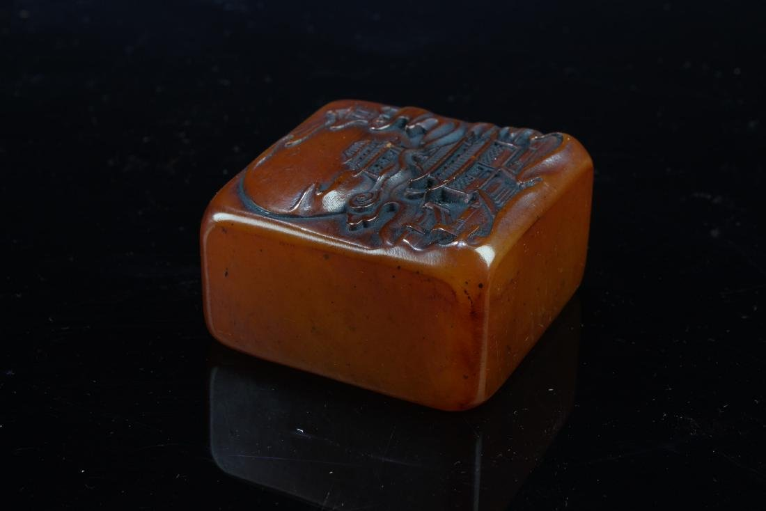 Chinese Soapstone Square-shaped Seal - 3