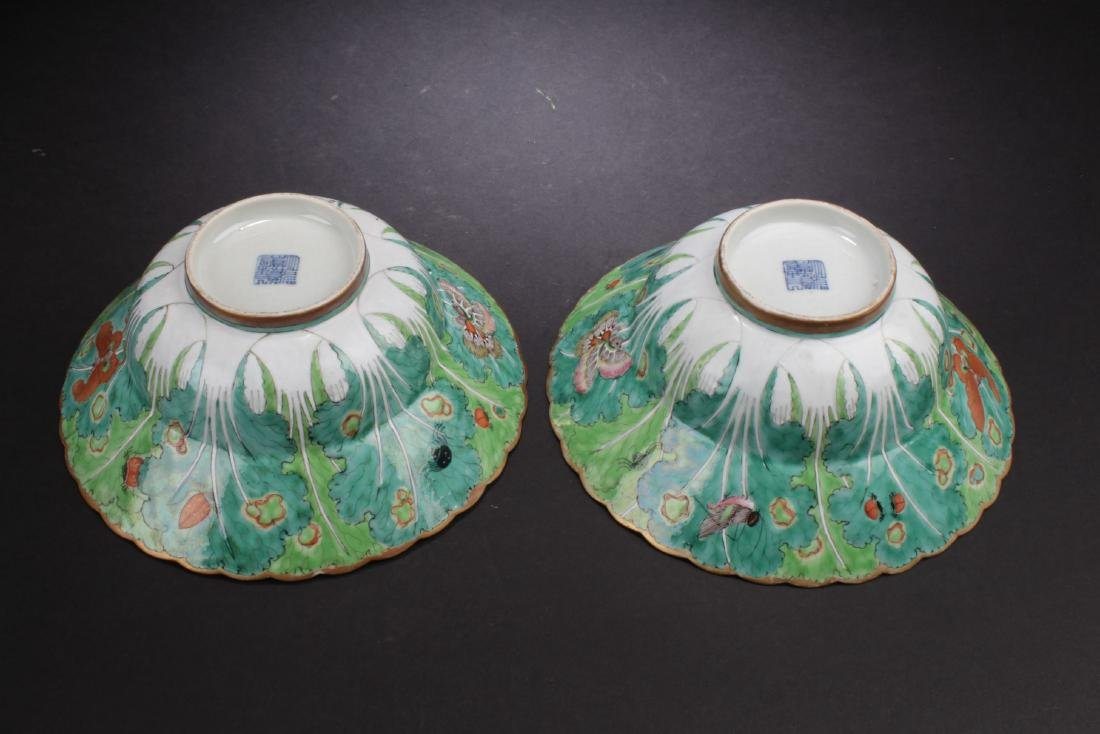 A Pair of Antique Chinese Famille Rose Bowls - 3