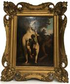 A Framed Oil Painting, 19th Century
