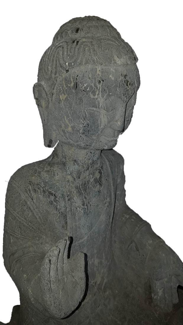 Chinese Stone Carved Buddha Statue - 6