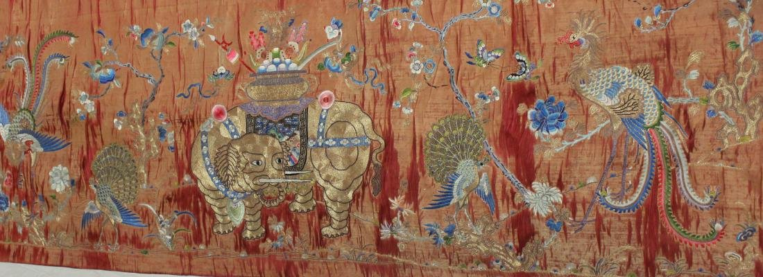 Antique Chinese Silk Embroidery on Cloth