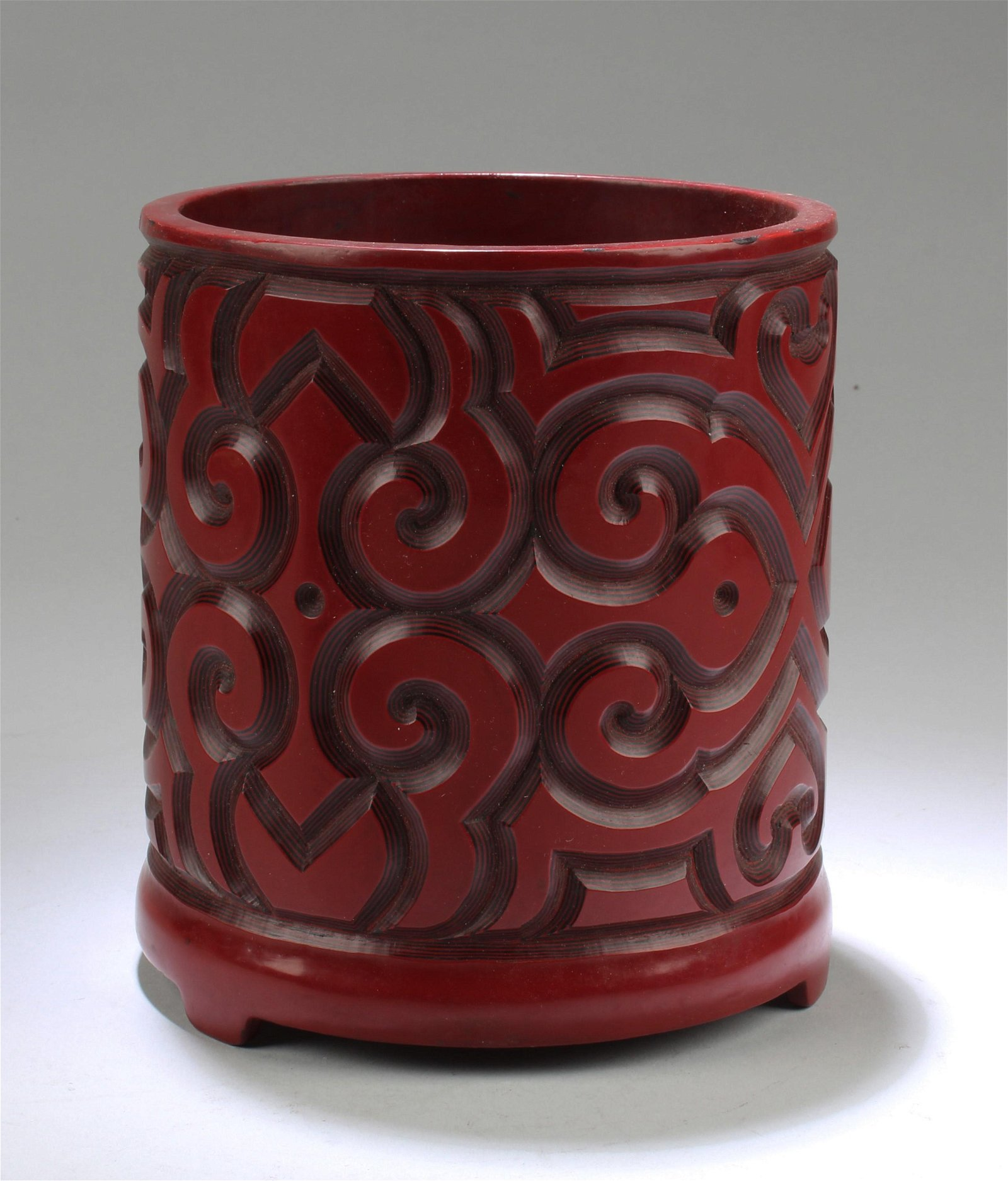 Chinese Cinnabar Lacquer Brushpot