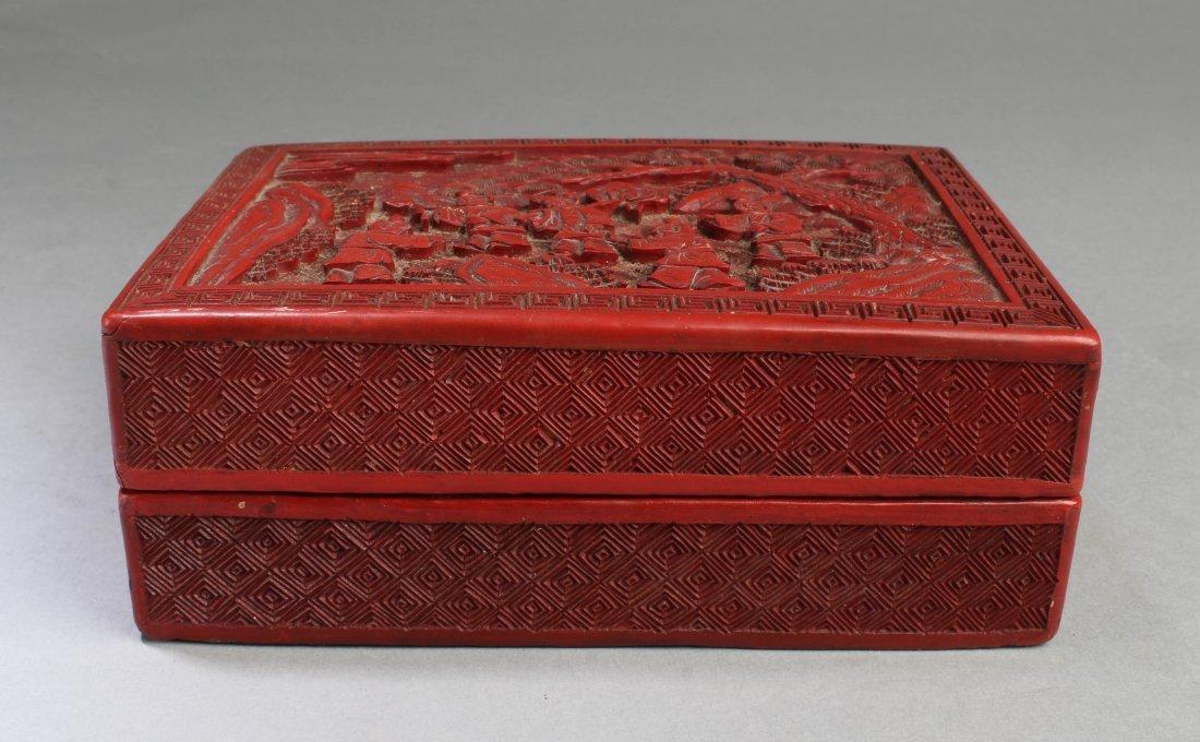 Chinese Cinnabar Lacquer Rectangular Box