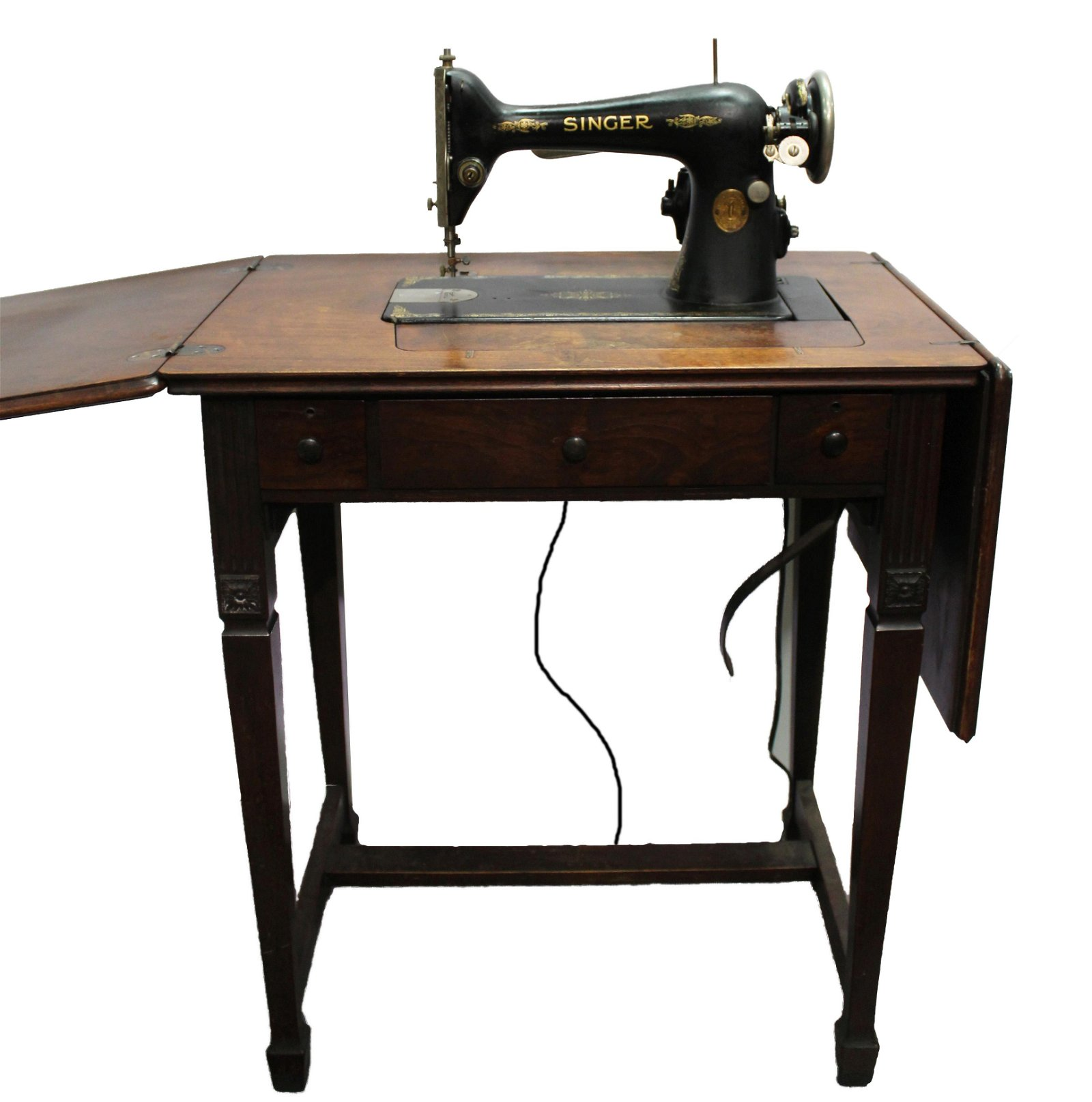 Vintage Singer Sewing Machine with Table