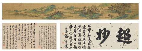 Chinese Scroll Painting, Landscape, Attributed to Wen