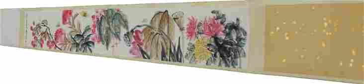 Chinese Long Scroll Painting Album