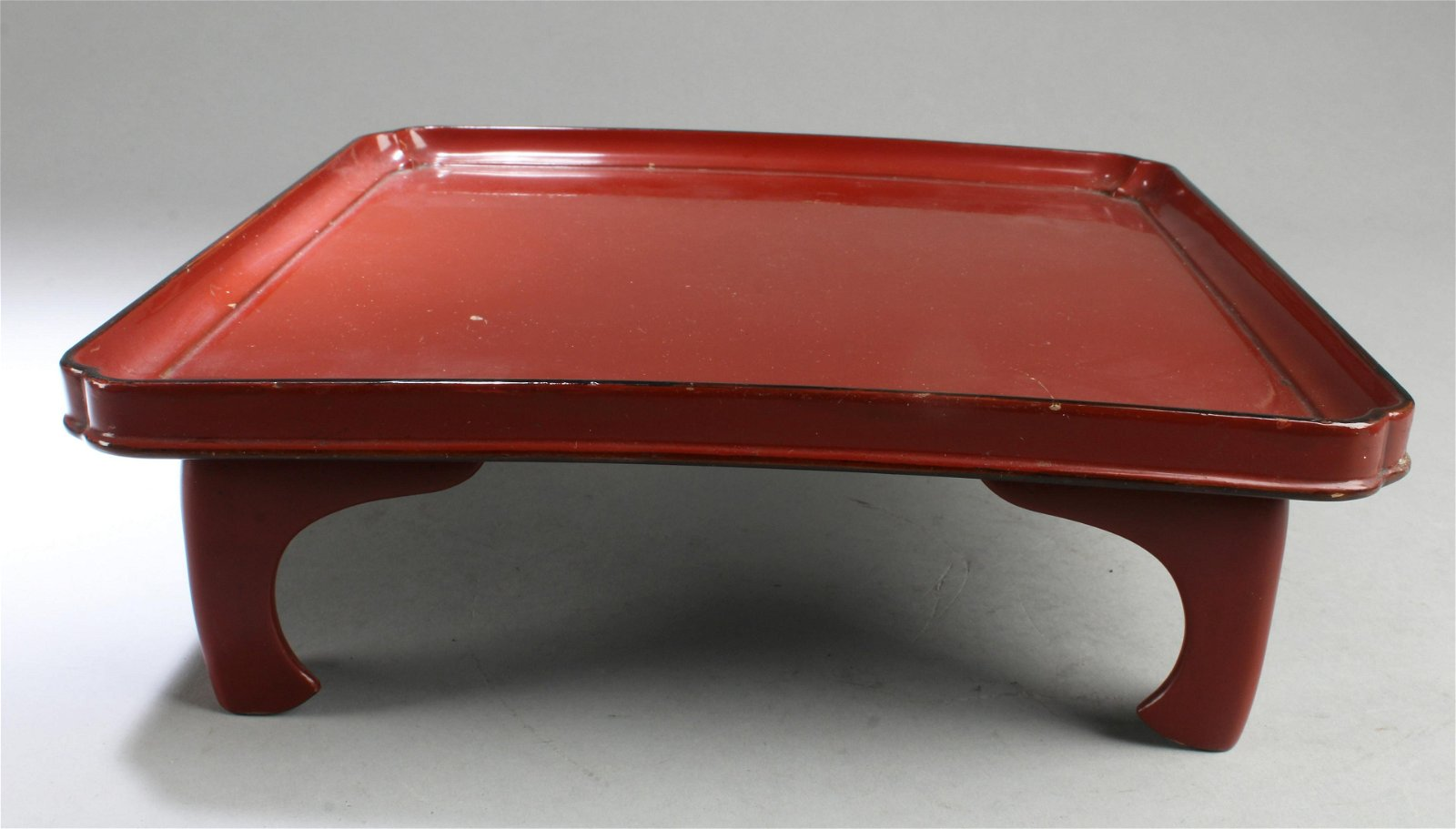 Chinese Square Shaped Lacquer Tray