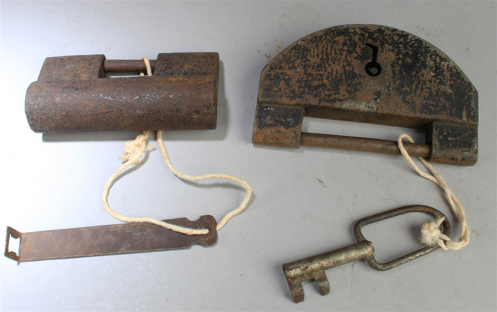 A Group of Two Antique Locks