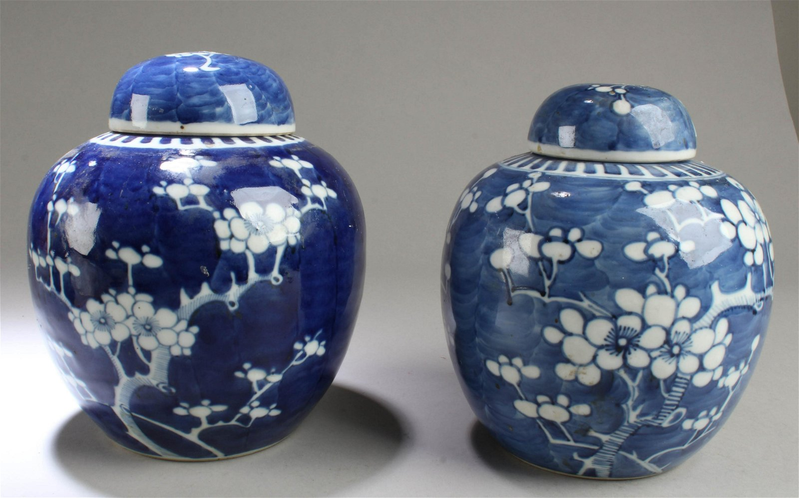 A Group of Two Antique Chinese Blue & White Porcelain