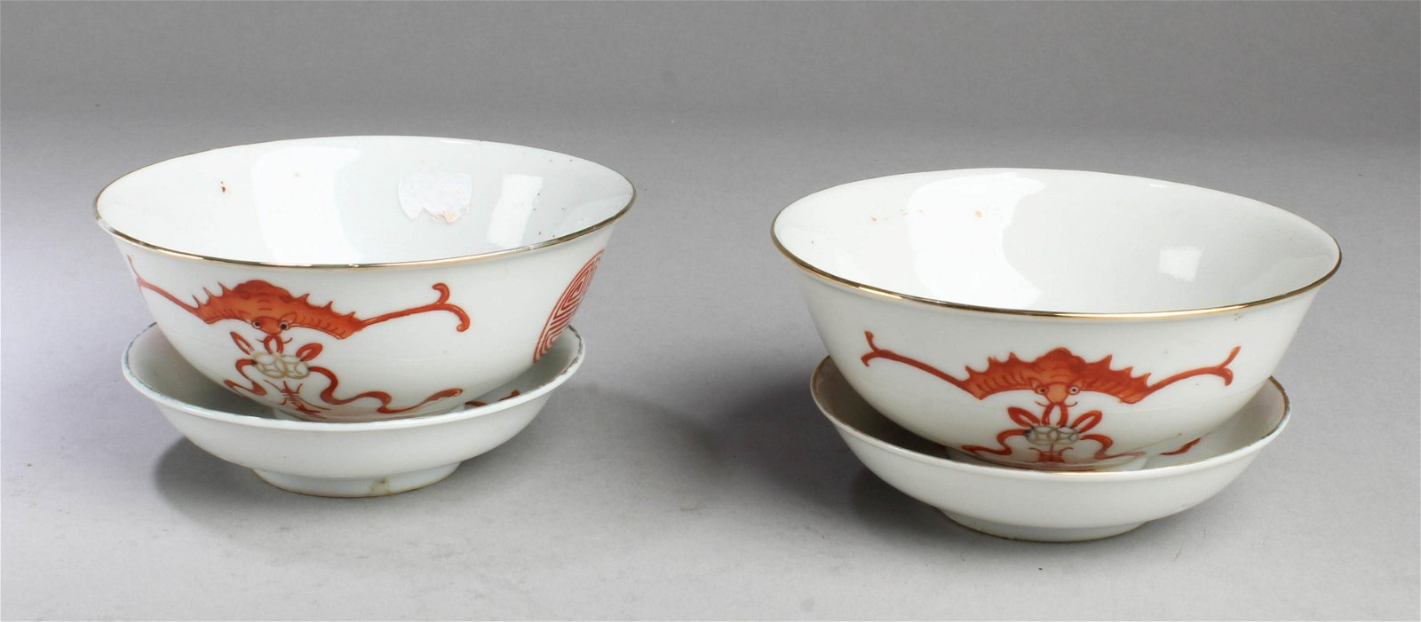 A Group of Two Antique Chinese Porcelain Bowls with