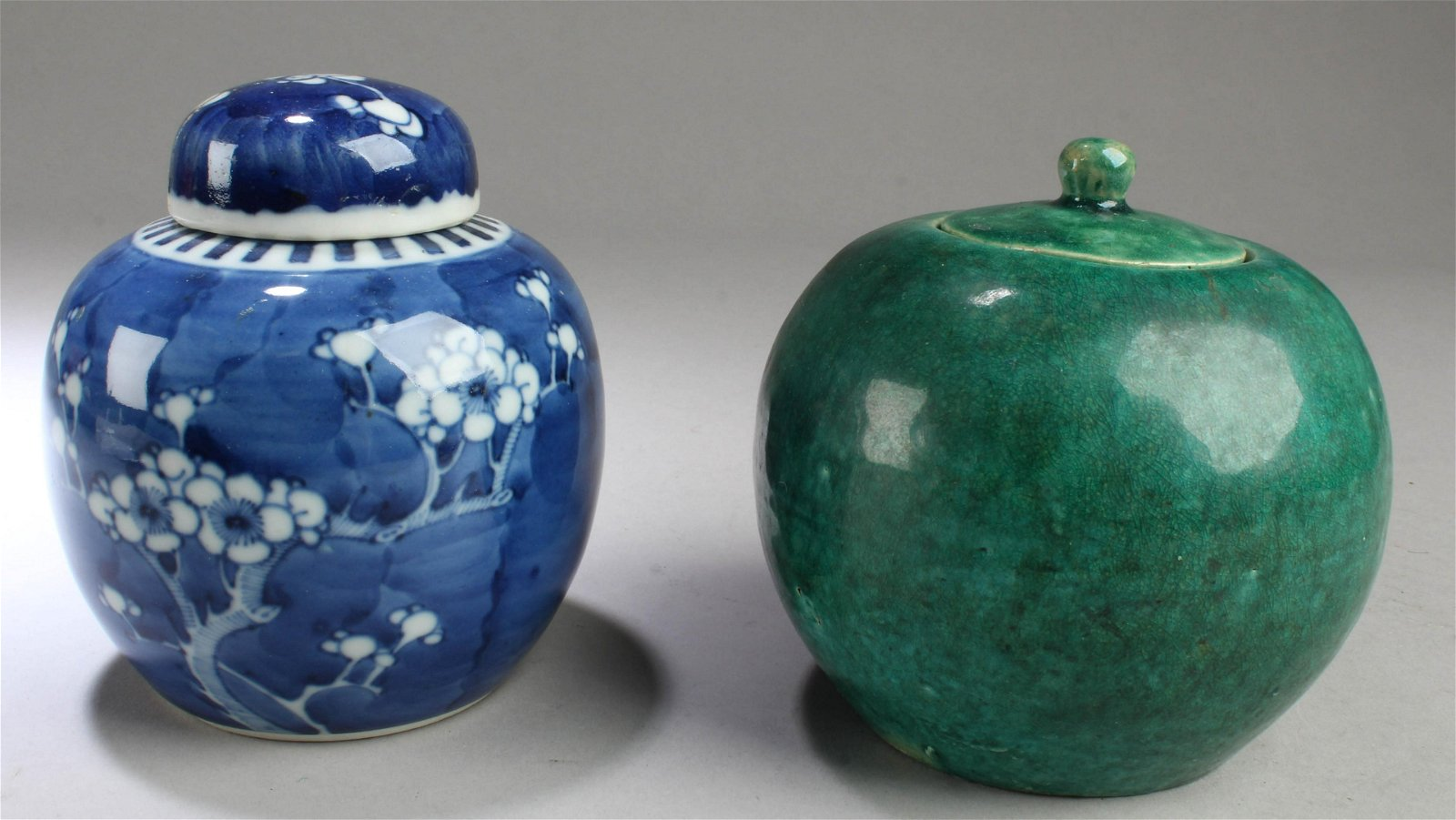 A Group of Two Antique Chinese Porcelain Jars