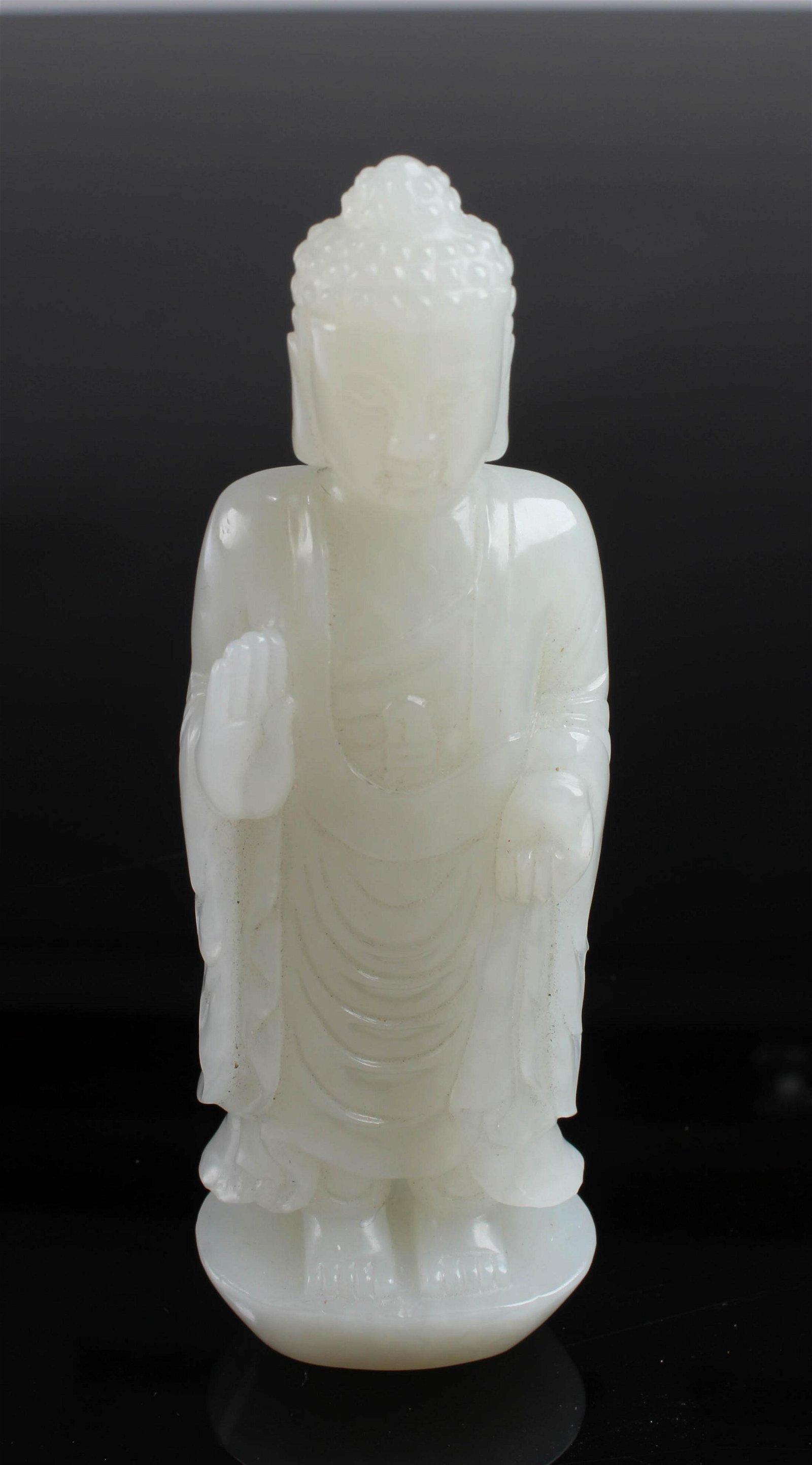 Chinese Jade Buddha Statue