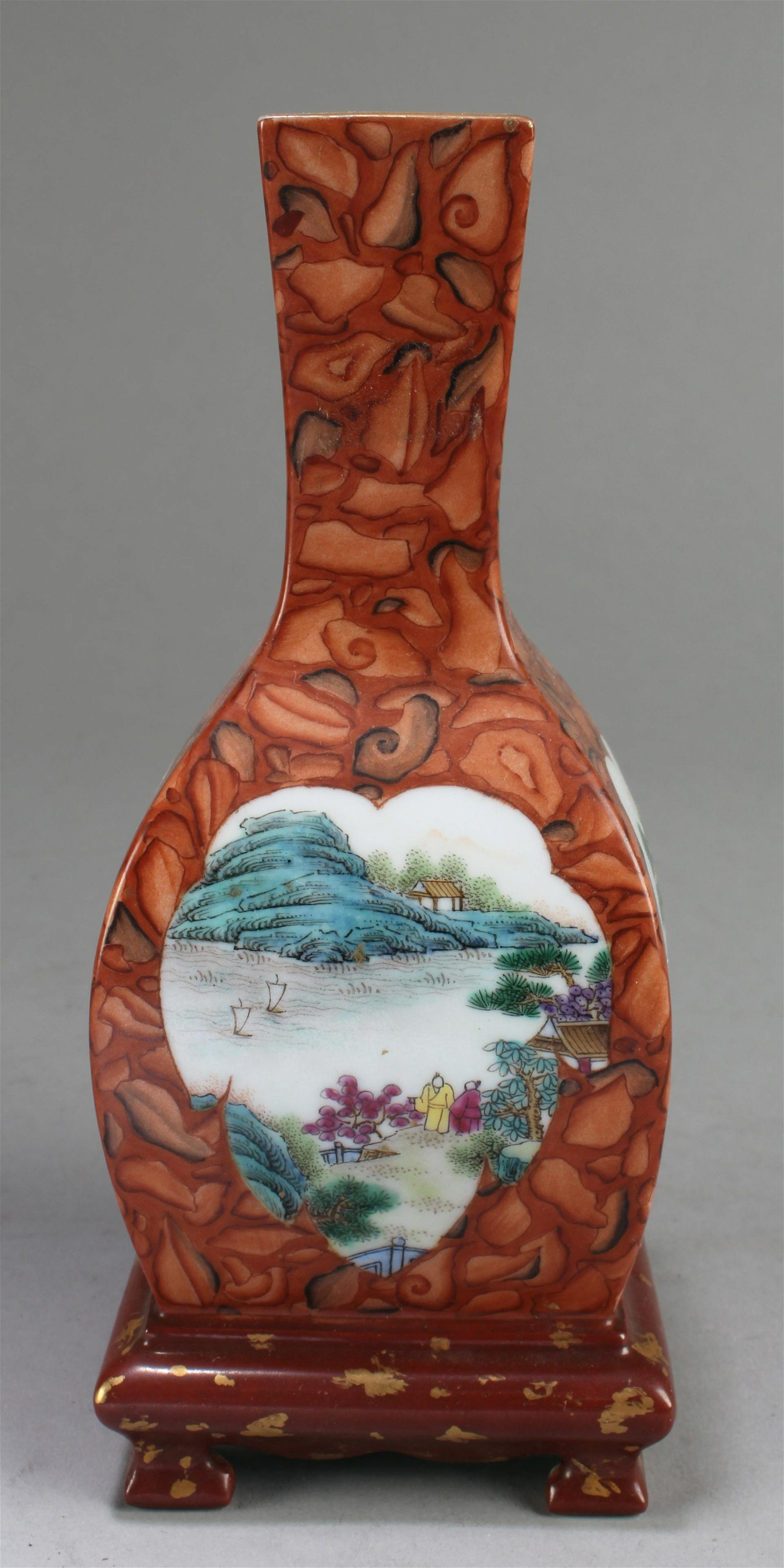 Chinese Square Shaped Porcelain Vase