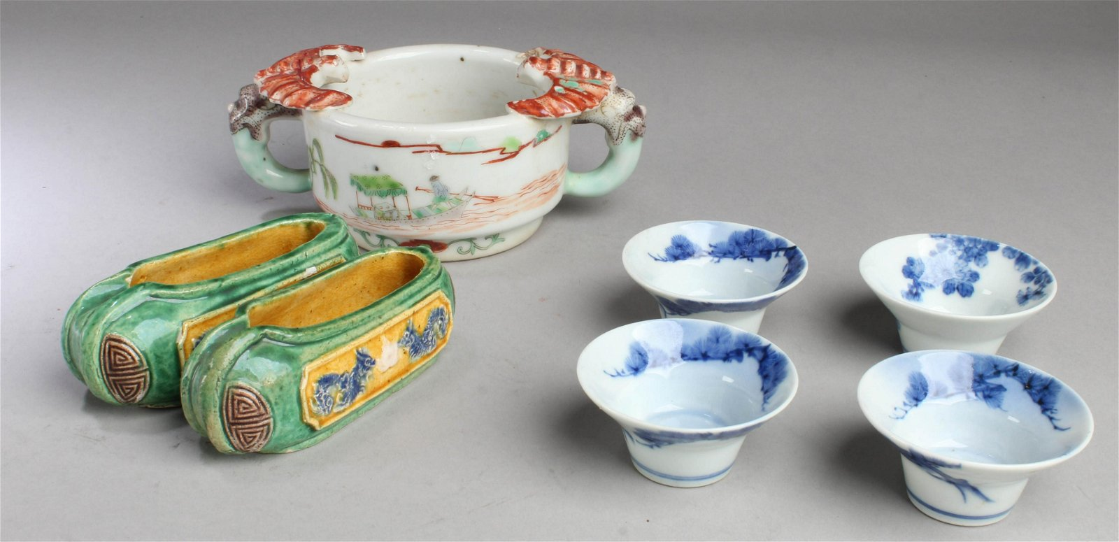 A Group of Seven Antique Chinese Porcelain Ornament