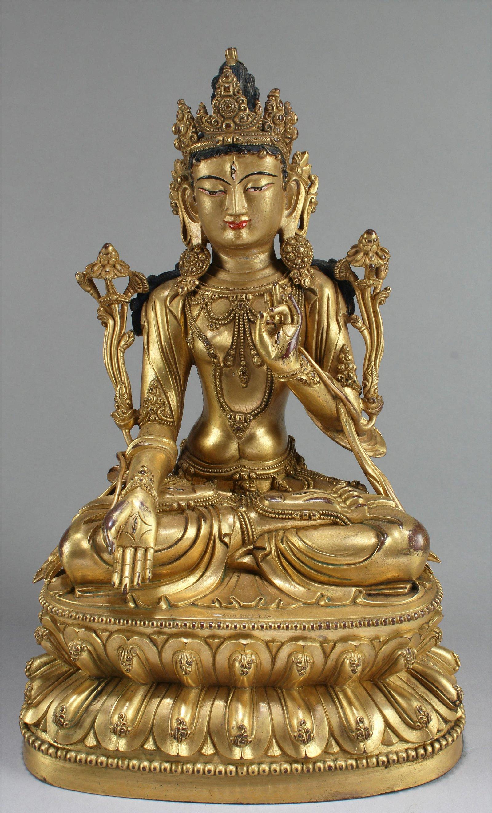 Chinese Gilt Bodhisattva Buddha Statue