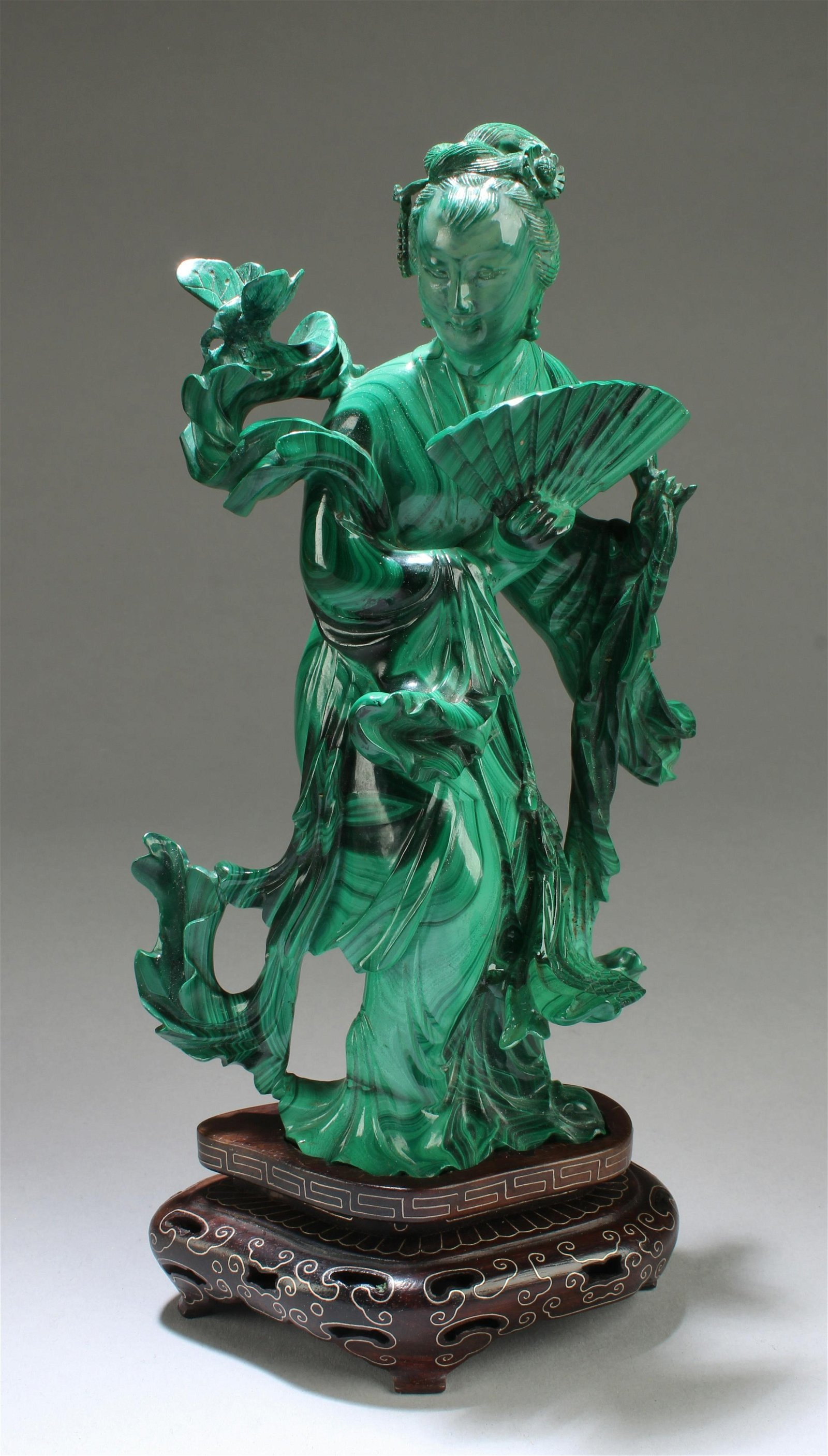 Chinese Malachite Carved Figurine