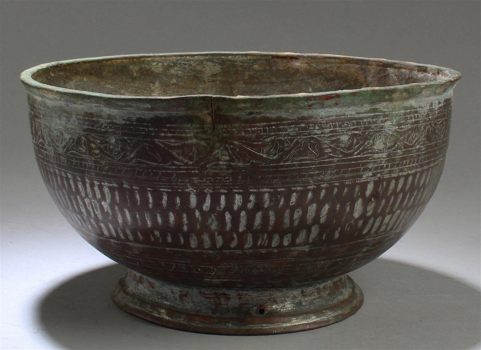 A Bronze Round Bowl