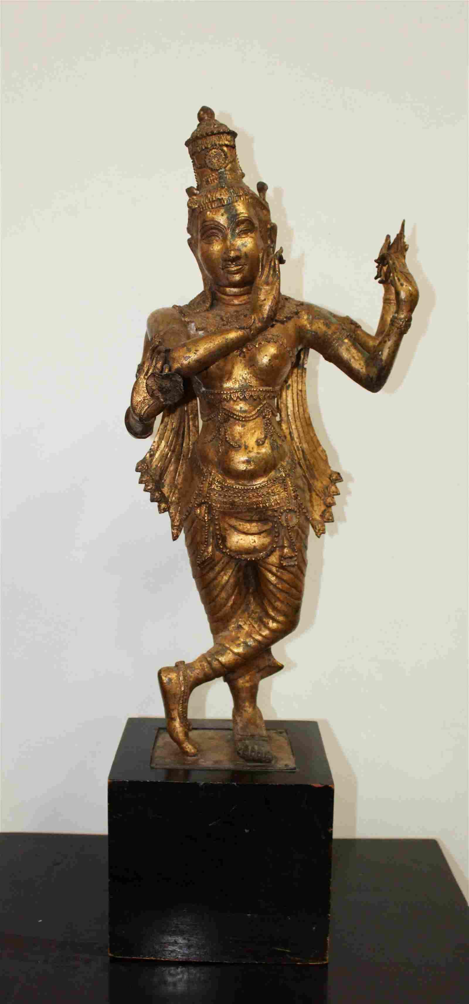 Antique Gilt Bronze Hindu Statue