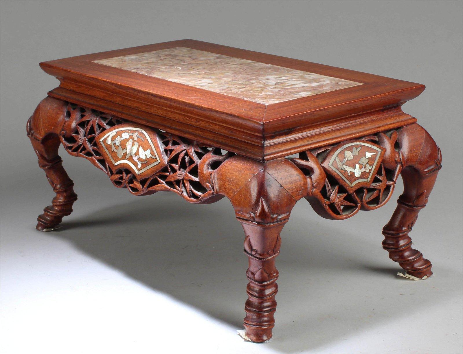 Chinese Hardwood Ectangulr shaped Stand
