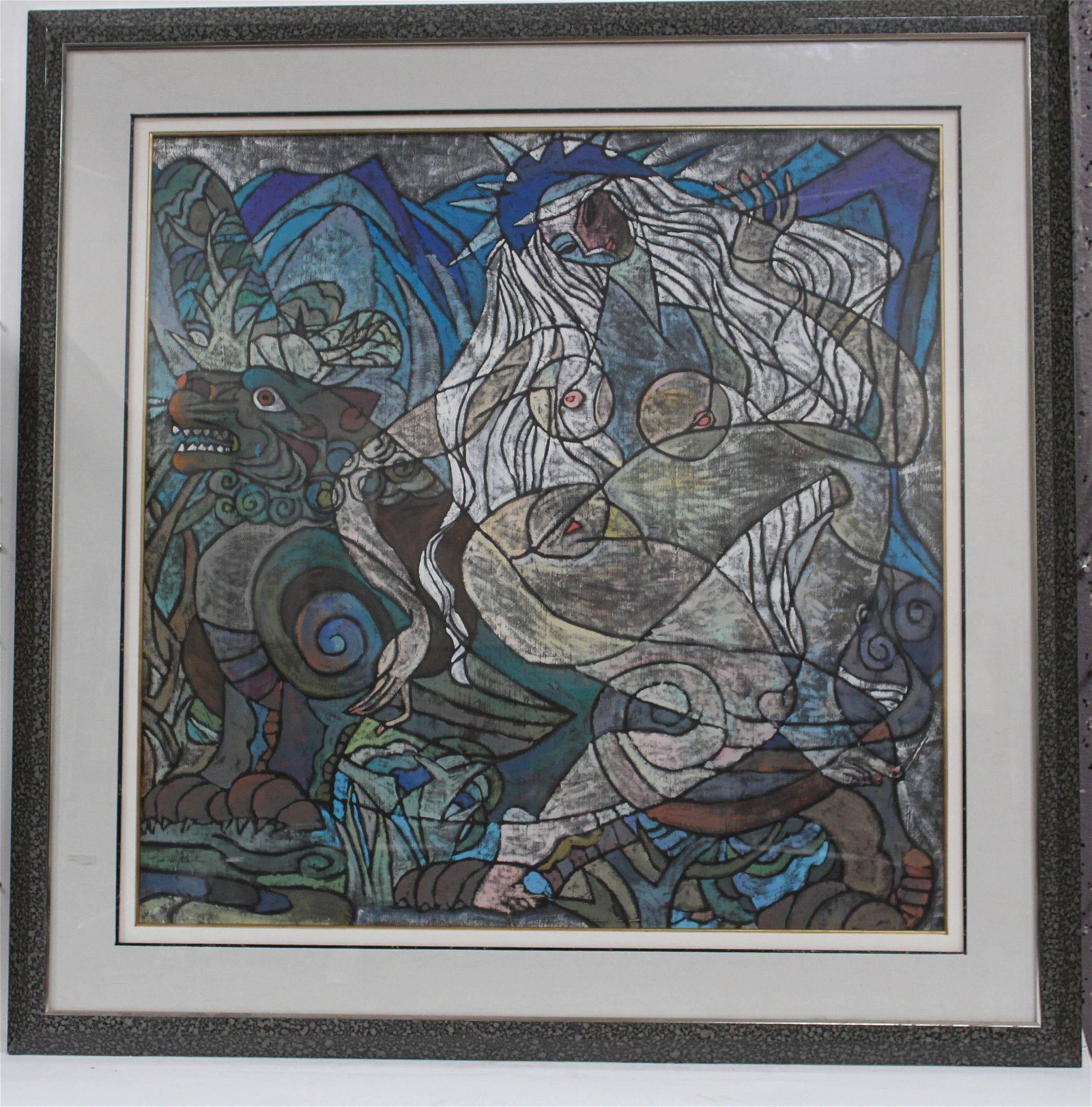 An Abstract Framed Painting