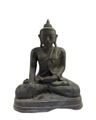 Antique Bronze Seated Buddha Statue