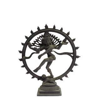 Antique Bronze Hindu God Shiva as Nataraja Statue