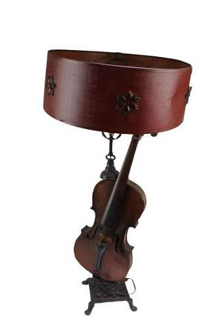 Antique Violin-body Table Lamp