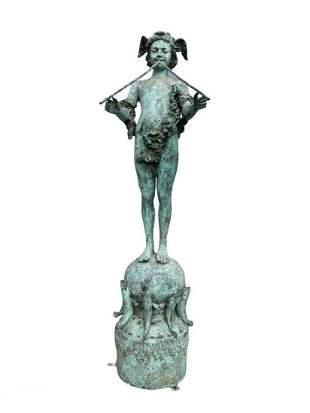 A Bronze Standing Statue
