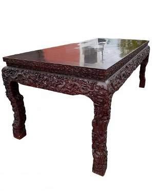 Chinese Hardwood Rectangular Table