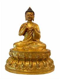 Chinese Gilt Bronze Seated Buddha Statue
