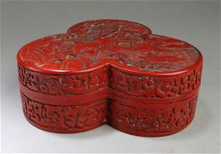 A chinese Cinnabar Lacquer Container