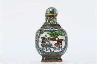 A finely made cloisonne snuff bottle