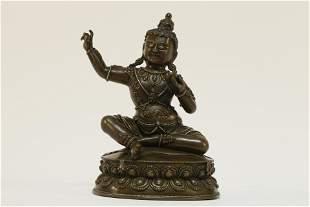 Tibetan Gilt Bronze Great Achiever Statue