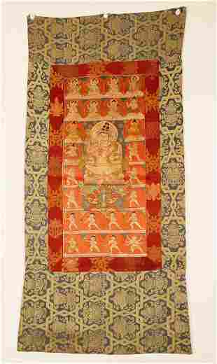 Finely woven Embroidery Tibetan Thangka