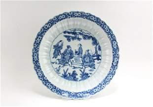 A Blue & White Porcelain Plate