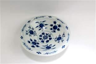 A Blue & White Porcelain Stem Bowl