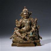 A Gilt-Bronze Statue Of Mahasiddha