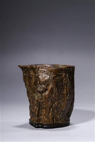 Qing Dynasty Agarwood Brushpot