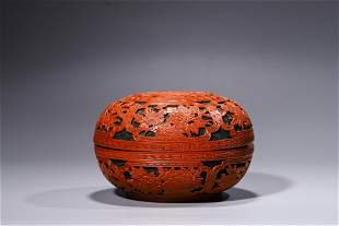 A Qing Cinnabar Lacquer Round Container