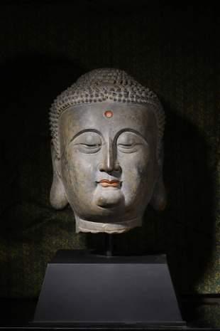 Tang Dynasty: Stone Buddha Head