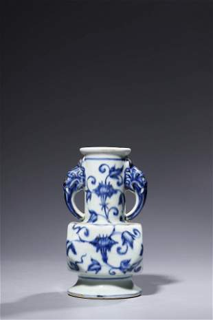 Ming Xuande-STYLE: Blue and White Morning Glory Beast