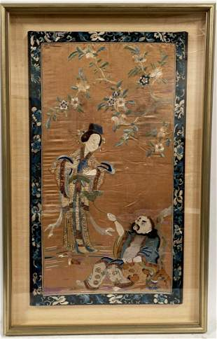 A Framed Embroidery, Qing Dynasty