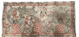 18th Century Tibetan Ritual Painted Tantric Wool