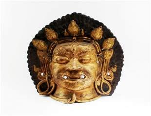 A Bronze Mask of Bhairav