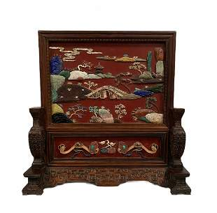 Chinese Wooden Table Screen